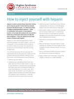 How to inject yourself with heparin - Hughes Syndrome Foundation