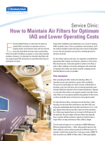 How to Maintain Air Filters for Optimum IAQ and Lower Operating