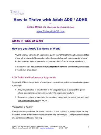 How to Thrive with Adult ADD / ADHD - Thrive with ADD