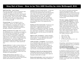 Stay Out of Zone – How to be Thin AND Healthy by John McDougall