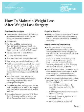 How To Maintain Weight Loss After Weight Loss - Allina Health