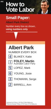 How to vote for Martin Foley and Labor in Albert - Martin Foley MP