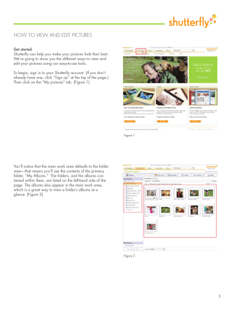 HOW TO VIEW AND EDIT PICTURES - Shutterfly