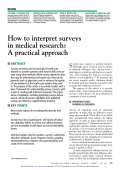 How to interpret surveys in medical research: A practical approach