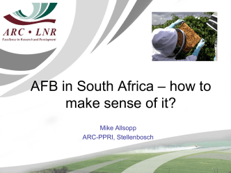 AFB in South Africa – how to make sense of it? - OIE Africa