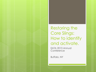 Restoring the Core Slings: How to identify and activate.