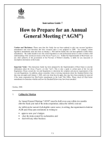 "How to Prepare for an Annual General Meeting (""AGM"")"