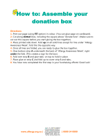 How to: Assemble your donation box