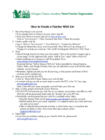 How to Create a Teacher Wish List - ACA PTO