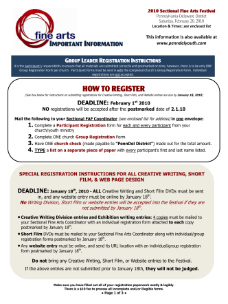 HOW TO REGISTER - Family Worship Center