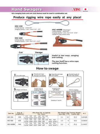 How to swage - Arm Sangyo Co.,Ltd