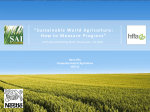 """Sustainable World Agriculture: How to Measure Progress"""
