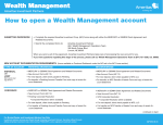 Wealth Management How to open a Wealth Management - Ameritas