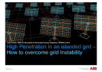 High Penetration in an islanded grid – How to overcome grid Instability