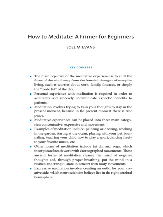 How to Meditate: A Primer for Beginners
