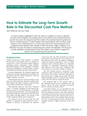 How to Estimate the Long-Term Growth Rate in the Discounted