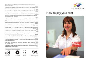 How to pay your rent - Staffordshire Housing Association