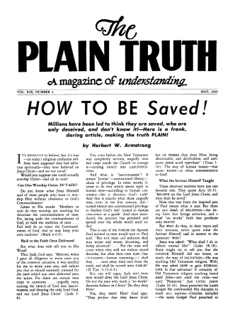 HOW TO BE Saved! - Herbert W. Armstrong Library and Archives