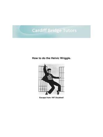 How to do the Helvic Wriggle. - BridgeWebs