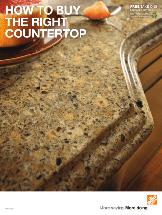 HOW TO BUY THE RIGHT COUNTERTOP - Home Depot