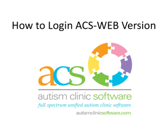 How to Login ACS to Login ACS-WEB Version