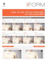 HOW TO USE THE KEY FEATURES OF THE ALVAFORM - Alvanon