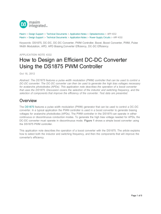 How to Design an Efficient DC-DC Converter Using - EE Times Asia