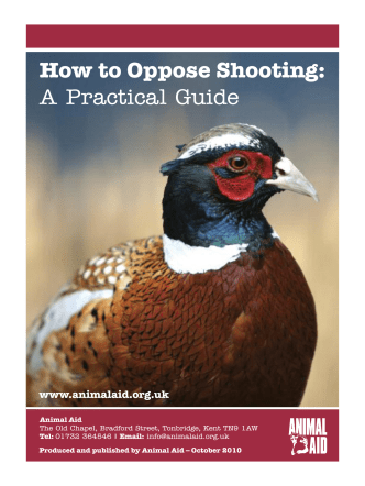 How to Oppose Shooting: A Practical Guide - Animal Aid