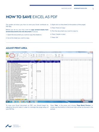 how to save excel as pdf - For Studerende