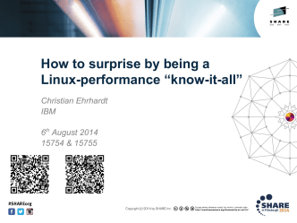 How to surprise by being a Linux performance know-it-all - Confex