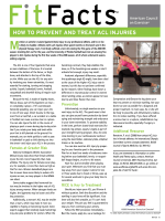 HoW To pRevenT And TReAT ACl injuRieS - American Council on