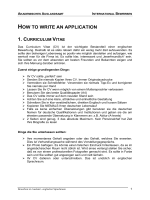 HOW TO WRITE AN APPLICATION - Hochschule Aalen