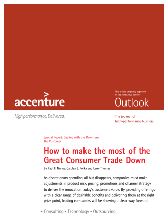 How to make the most of the Great Consumer Trade Down - Accenture