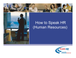 How to Speak HR (Human Resources)