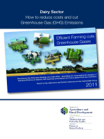 Dairy Sector How to reduce costs and cut Greenhouse Gas (GHG