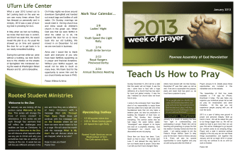 Teach Us How to Pray - Pawnee Assembly of God