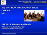 8+3 WAY HOW TO EMPOWER YOUR OHS MS oleh FAKHRUL