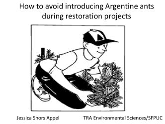 Avoiding inadvertent introductions of the invasive Argentine ants