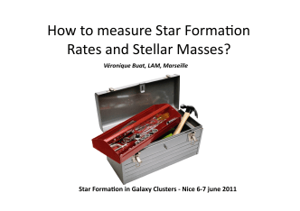 How to measure Star Formabon Rates and Stellar - Lagrange