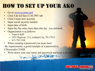 How to set up your AKo