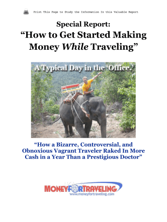 """How to Get Started Making Money While Traveling"""