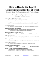 How to Handle the Top 10 Communication Hurdles at Work