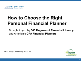 How to Choose the Right Personal Financial Planner - AICPA