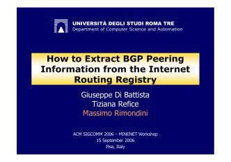 How to Extract BGP Peering Information from the IRR