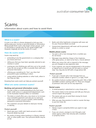 Information about scams and how to avoid them - MoneySmart