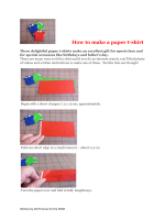 How to make a paper t-shirt