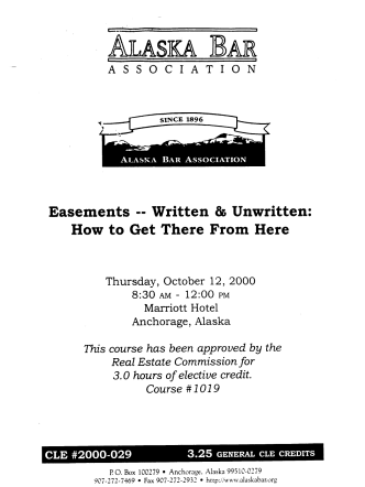 WRITTEN HOW TO GET THERE FROM - Alaska Bar Association