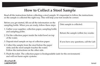 How to Collect a Stool Sample - Allina Health