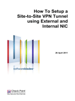 How To Setup a Site-to-Site VPN Tunnel using External and Internal