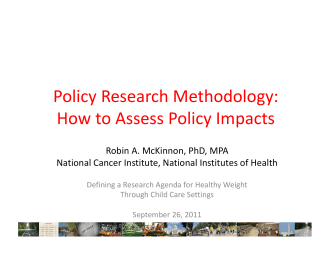 Policy Research Methodology: How to Assess Policy - Nemours
